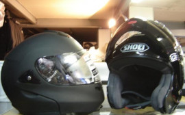 Casque shoei multitec noir brillant